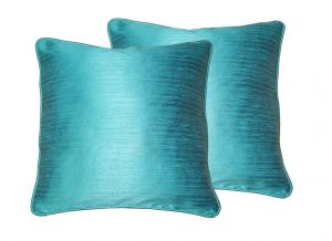 Buy Lushomes Turquoise Twinkle Star Cushion Covers 12 X 12 Pack Of 2 online
