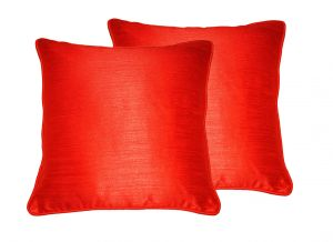 Buy Lushomes Red Twinkle Star Cushion Covers 16 X 16 Pack Of 2 online