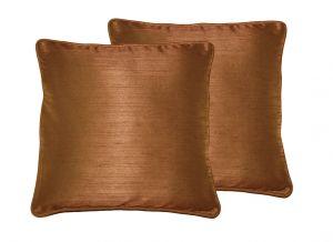 Buy Lushomes Dark Brown Twinkle Star Cushion Covers 16 X 16 Pack Of 2 online
