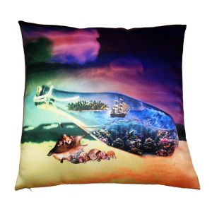 Buy Lushomes Digital Printed Beach Cushion Cover On Premium Whiteout Fabric online