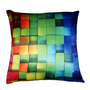 Buy Lushomes Digital Printed Cube Cushion Cover On Premium Whiteout Fabric online