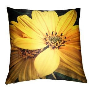 Buy Lushomes Digital Printed Sunflower Cushion Cover On Premium Fabric online