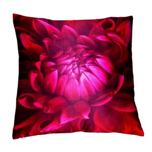 Buy Lushomes Digital Printed Lotus Cushion Cover On Premium Whiteout Fabric online