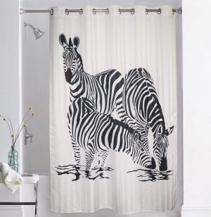 Buy Lushomes Digitally Printed Zebra Shower Curtain With 10 Eyelets online