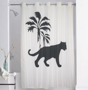 Buy Lushomes Digitally Printed Tiger Shower Curtain With 10 Eyelets online