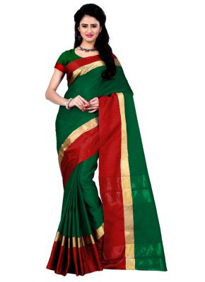 Buy Wama Green Cotton Silk Saree With Blouse(tz_himanishi_ Green) online