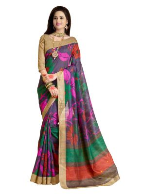 Buy Wama Fashion Cotton Sari With Blouse(tz_dangal) online