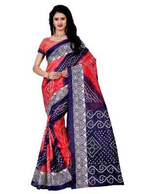 Buy Wama Fashion Bhagalpuri Cotton Sari With Blouse(tz_maya) online