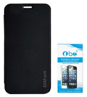 huge discount 0c0dc ae256 Tbz Flip Cover Case For Samsung Galaxy On5 With Screen Guard - Black