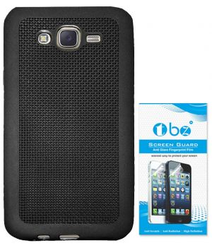 half off 0bfbc 0a65c Tbz Rubberized Soft Back Cover Case For Samsung Galaxy On5 With Screen  Guard - Black
