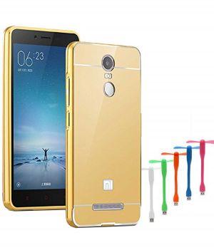 Buy Tbz Metal Bumper Acrylic Mirror Back Cover Case For Xiaomi Redmi Note 3 With USB