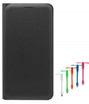 buy online b422d 08137 Tbz Pu Leather Flip Cover Case For Lenovo Vibe K5 Plus With USB Flexible  Fan - Black