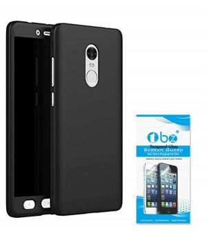 outlet store 89764 ad14d Tbz 360 Degree Protection Front & Back Case Cover For Lenovo K8 Note With  Tempered Screen Guard - Black