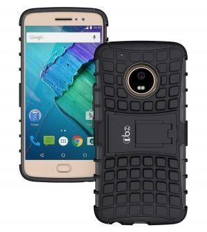 low priced 8ccf8 39715 Tbz Hard Rubberized Kickstand Back Cover Case For Motorola Moto G5 Plus -  Black