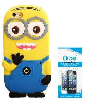 sports shoes f4573 aa2f6 Tbz Cartoon Minion Soft Rubber Silicone Back Case Cover For Oppo F1s With  Tempered Screen Guard
