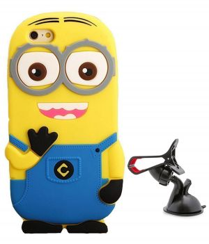 sports shoes 7bbae 9c9ac Tbz Cartoon Minion Soft Rubber Silicone Back Case Cover For Oppo F1s With  Mobile Car Mount Holder Stand