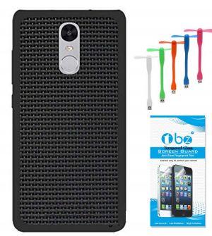 size 40 859e8 0e4b3 Tbz Rubberised Black Net/jali Back Cover Case For Xiaomi Redmi 4a With USB  Flexible Fan And Tempered Screen Guard