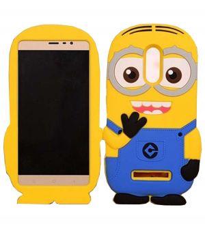 official photos 582ea 7ee68 Tbz Cartoon Minion Soft Silicone Back Case Cover For Xiaomi Redmi Note 3 -  Black
