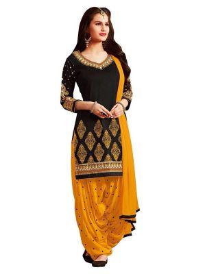 Buy Dhruti Creation Black Colour Crepe Printed Unstitched (code - Dcdm_himaniblack ) online