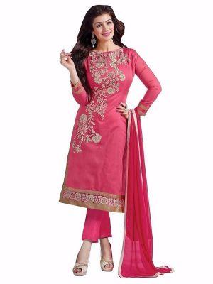 Buy Kia Fashions Aaisha Pink Color Dress online