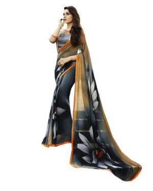 Buy Ladies Flavour Present Multi Georgette Saree/lfs-152_13 online