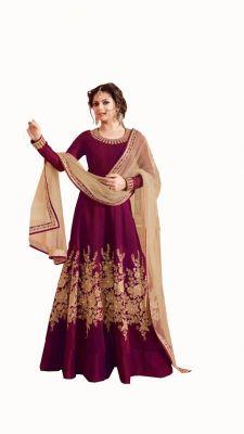 Buy Kana Fashion Fabulous Pink Turkey Embroidery And Stone Work Designer Anarkali Suit (kf_46_1172) online