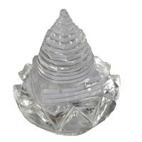 Buy Crystal Shri Yantra On Lotus By Pandit Nm Shrimali online