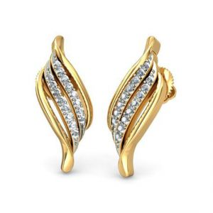 Buy Sheetal Impex Certified New Designer Real Natural Diamonds Silver Earring online