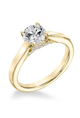 Buy Sheetal Impex Certified 0.65 Ctw Si1 Clarity Real Natural Round Cut Diamonds 14kt Yellow Gold Ring - R00118 online