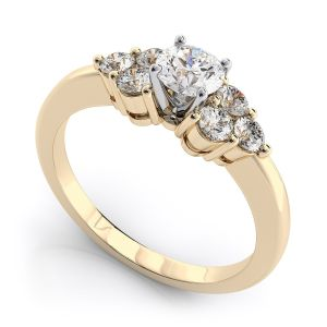 Buy Sheetal Impex Certified 0.75 Ctw Vs2 Clarity Real Natural Round Cut Diamonds 14kt Yellow Gold Ring - R00167 online