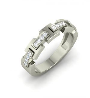 Buy Sheetal Impex Certified 0.32 Ctw Real Natural Round Cut Si2 Clarity 14kt White Gold Diamonds Ring - Rm0018 online