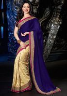 Buy Try N Get Bollywood Replica Tamanna Bhatia Blue Stylish Designer Saree online