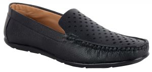 Buy George Adam Black Mens Loafers online