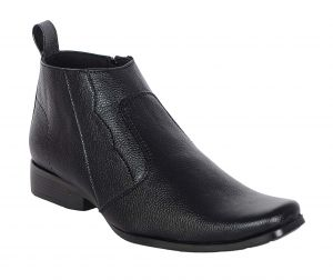 Buy George Adam Mens Synthetic Leather High-class Simple Look Black Boots (code - 12008_black_simple_look) online