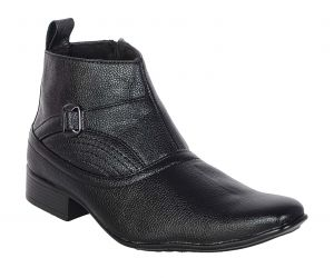 Buy George Adam Mens Synthetic Leather High-class Rapid Action Black Boots (code - 2801_black_rapid_action) online