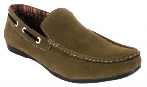 Buy George Adam Mens Synthetic Leather Green Loafers online