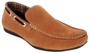 Buy George Adam Mens Synthetic Leather Tan Loafers online