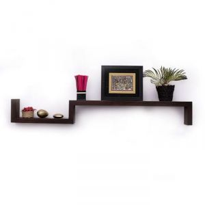 Buy Onlineshoppee Beautiful Wooden Fancy Wall Decor Rack Shelves Size (lxbxh-25x5x6) online