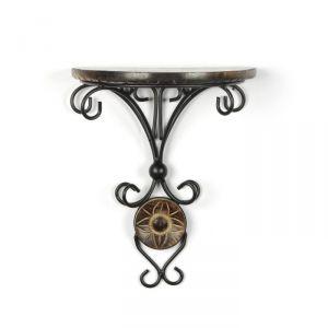 Buy Onlineshoppee Beautiful Wood & Wrought Iron Fancy Wall Bracket online