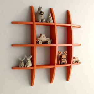 Buy Onlineshoppee Big Tier Mdf Wall Shelves Globe13 online