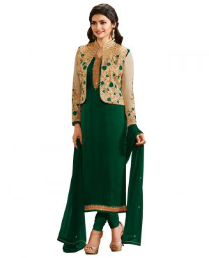 Buy Multi Retail Green Embroidery Georgette Unstitched Salwar Suit With Dupatta_c409dl4111-aha online