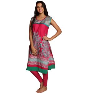 Buy De'Moda Women'S Printed Red Maternity Kurti online