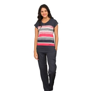 Buy De'Moda Women'S Striped Night Suit online