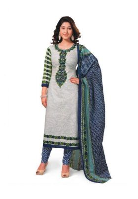Buy Aryahi Cotton Blue Unstitched Dress Material - (product Code - 61079) online