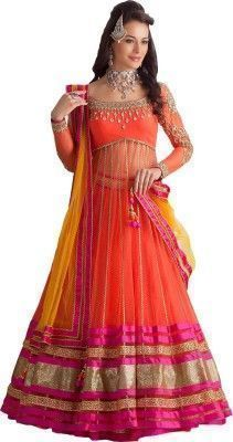 Buy Bhavna Enterprise Net Type Semi-stitched Salwar Suit Dupatta Material online