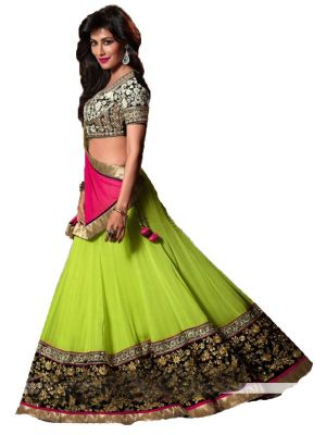 Buy Vandv Buy Georgette Embroidered Designer Lengha Choli online