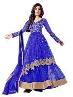 Buy Thankar Attractive Latest Designer Dark Blue Anarkali Suit online