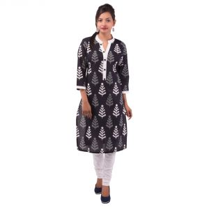 Buy Mystique India Black Floral Print Women Kurti online