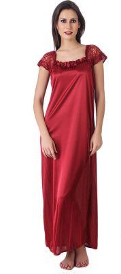 Buy Glambing Maroon Nighty For Women online