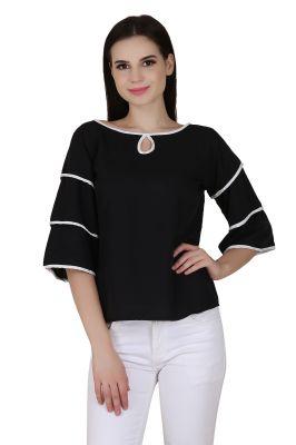 Buy Jollify Black Colour Fashionable Women's Top(product Code-3aastinblack_) online